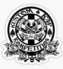Hot Rod-Skull, Roses, Pistons and Spades Sticker