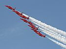 Diamond Roll - The Red Arrows - Farnborough by Colin  Williams Photography