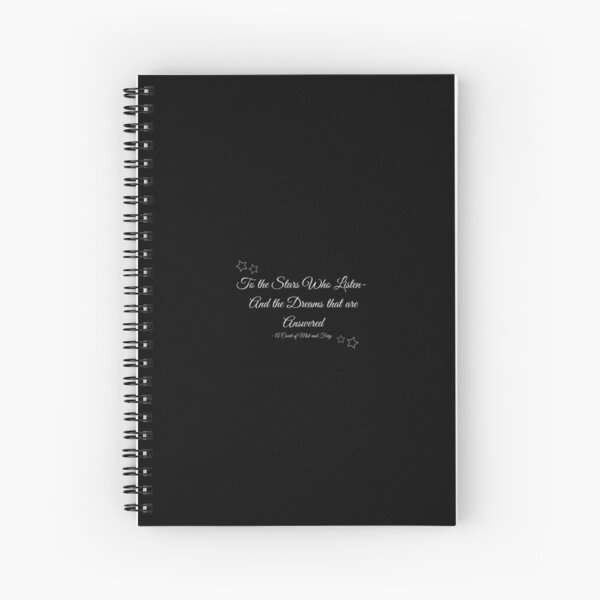 A Court of Mist and Fury  Spiral Notebook