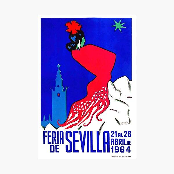 Spain 1964 Seville April Fair Poster Photographic Print