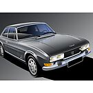 Poster artwork - Peugeot 504 Coupe by RJWautographics