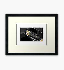 Poster artwork - Peugeot 504 saloon. Framed Print