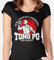 NEW TONG PO MUAY THAI FIGHTER VILLAIN KICKBOXER VAN DAMME MOVIE Women's Fitted Scoop T-Shirt