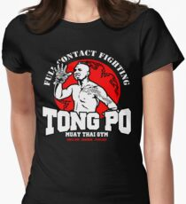 NEW TONG PO MUAY THAI FIGHTER VILLAIN KICKBOXER VAN DAMME MOVIE Women's Fitted T-Shirt