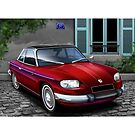 Poster artwork - Panhard 24CT French Background by RJWautographics