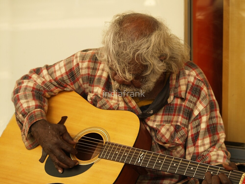 Aboriginal busker by indiafrank