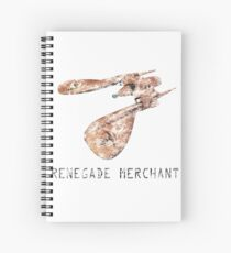 Renegade Merchant - with retro font - distressed Spiral Notebook