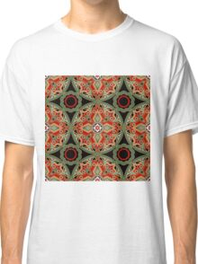 Seamless beautiful antique pattern ornament. Geometric background design, repeating texture. Classic T-Shirt