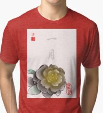Inked Petals of a Year January Tri-blend T-Shirt