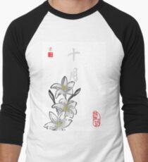 Inked Petals of a Year October Men's Baseball ¾ T-Shirt