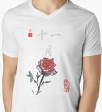 Inked Petals of a Year November Men's V-Neck T-Shirt