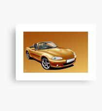 Poster artwork - Mazda MX-5 (Eunos, Miata) mk2  Canvas Print
