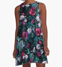 RPE FLORAL ABSTRACT III A-Line Dress