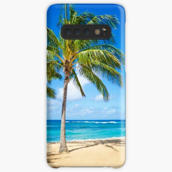 Palm trees on the sandy beach in Hawaii Samsung Galaxy Snap Case