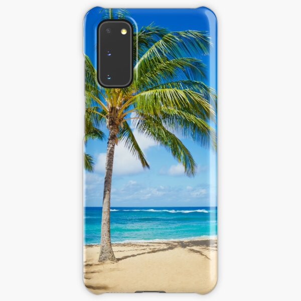 Palm trees on the sandy beach in Hawaii Samsung Galaxy Snap Case