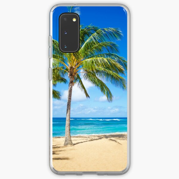 Palm trees on the sandy beach in Hawaii Samsung Galaxy Soft Case