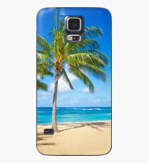 Funda/vinilo para Samsung Galaxy Palm trees on the sandy beach in Hawaii