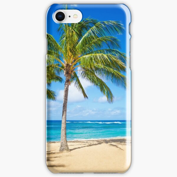 Palm trees on the sandy beach in Hawaii iPhone Snap Case