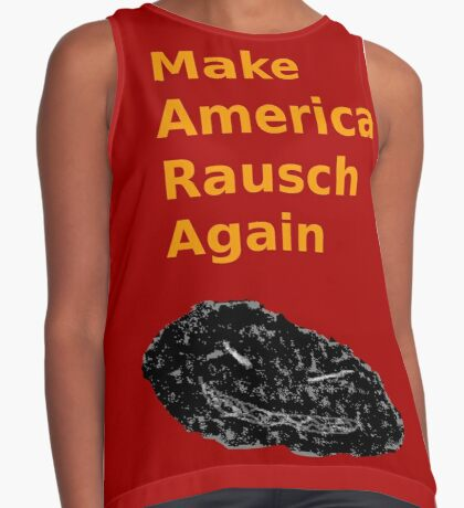 Make America Rausch Again, Red and Gold Sleeveless Top