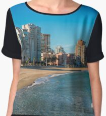 The empty beach - panorama Chiffon Top