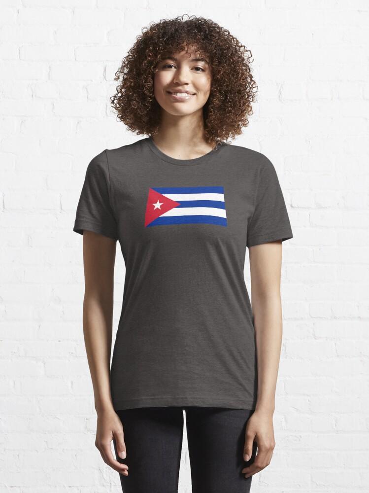 Alternate view of Cuba Flag - Cuban National Flag T-Shirt Sticker Essential T-Shirt