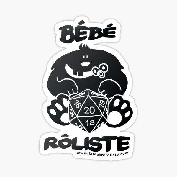 Bébé Rôliste Noir pour mère et père fans de jeux de rôle par La Loutre Rôliste Sticker