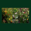 English Cottage Garden Collage 2 by Dorothy Berry-Lound