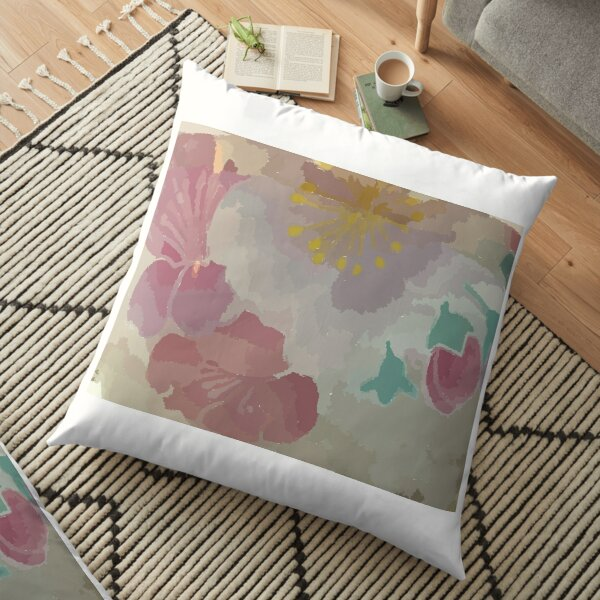 Colourful design fitting for people who loves Floral or Leaf Motif. Floor Pillow