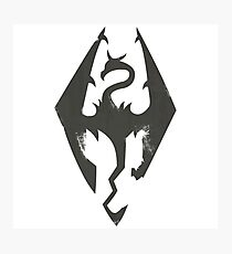 Iron Dragon Grunge Photographic Print