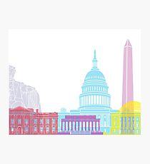 Washington DC skyline pop Photographic Print