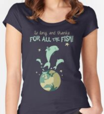 So Long, and Thanks for All the Fish Women's Fitted Scoop T-Shirt