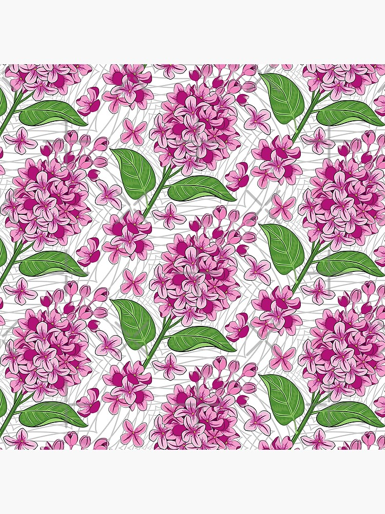 Lilacs Flowers Pattern by AyeshasDesigns
