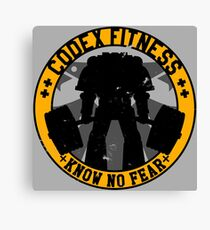 Know No Fear (large badge) Canvas Print
