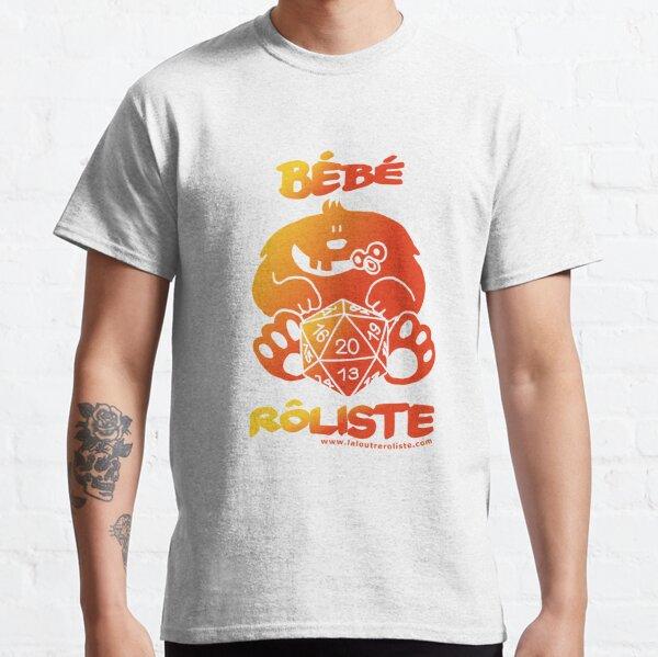 Bébé Rôliste Orange pour mère et père fans de jeux de rôle par La Loutre Rôliste T-shirt classique