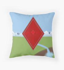 Red Diamond Throw Pillow