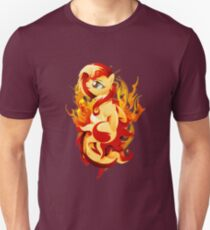 Flaming Sunset Shimmer Unisex T-Shirt