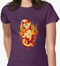 Flaming Sunset Shimmer Womens Fitted T-Shirt