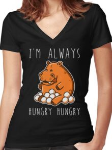 Always Hungry Women's Fitted V-Neck T-Shirt