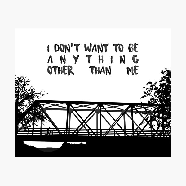 I Don't Want To Be - ONE TREE HILL Photographic Print