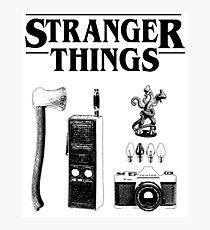 Stranger Things Stylised Objects Demogorgon Radio Photographic Print