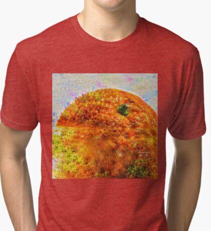 #DeepDreamed Frozen Orange Tri-blend T-Shirt