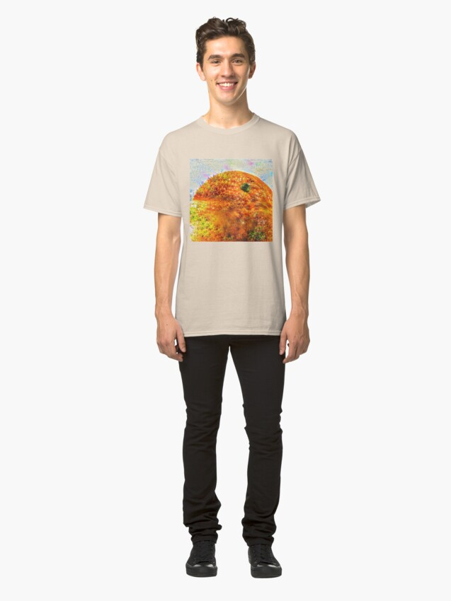 Alternate view of #DeepDreamed Frozen Orange Classic T-Shirt