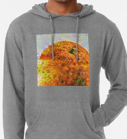 #DeepDreamed Frozen Orange Lightweight Hoodie
