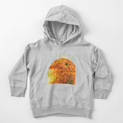 #DeepDreamed Frozen Orange Toddler Pullover Hoodie