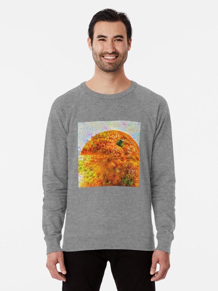 Alternate view of #DeepDreamed Frozen Orange Lightweight Sweatshirt