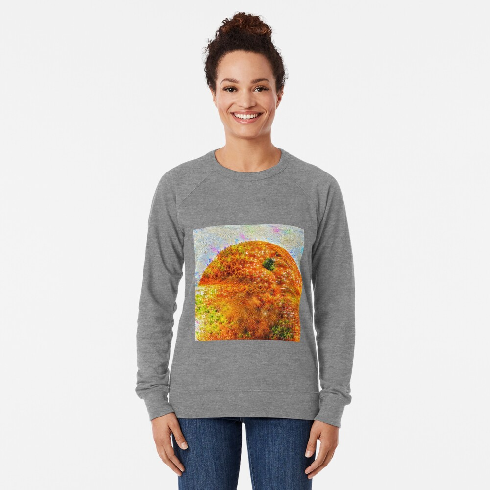 #DeepDreamed Frozen Orange Lightweight Sweatshirt