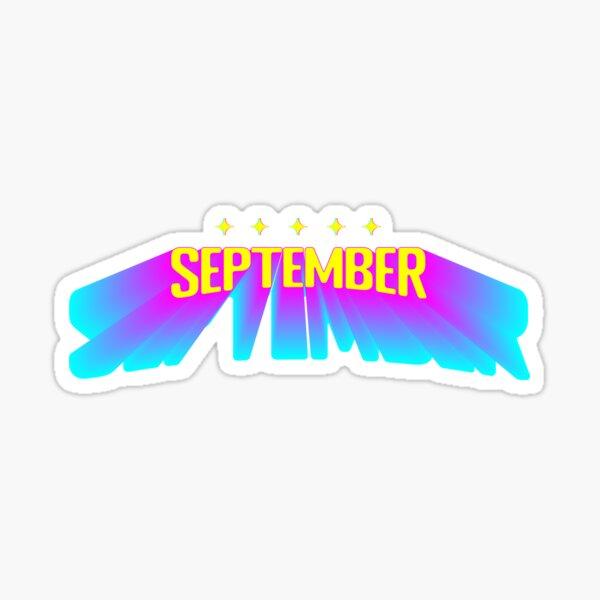 Five Star September - Retro Futurism Sticker