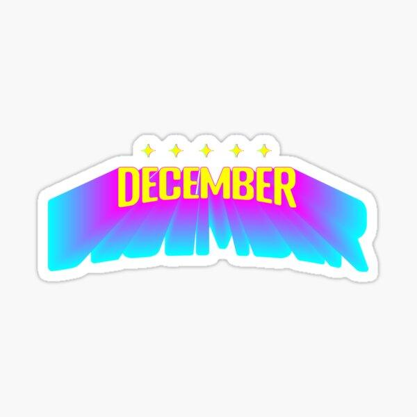 Five Star December - Retro Futurism Sticker