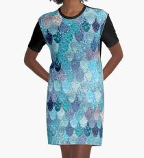 SUMMER MERMAID DARK TEAL by Monika Strigel Graphic T-Shirt Dress