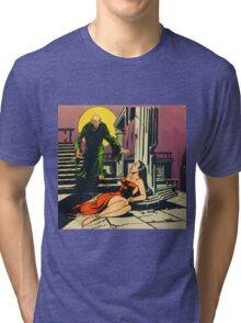Nosferatu advances upon his captive Tri-blend T-Shirt